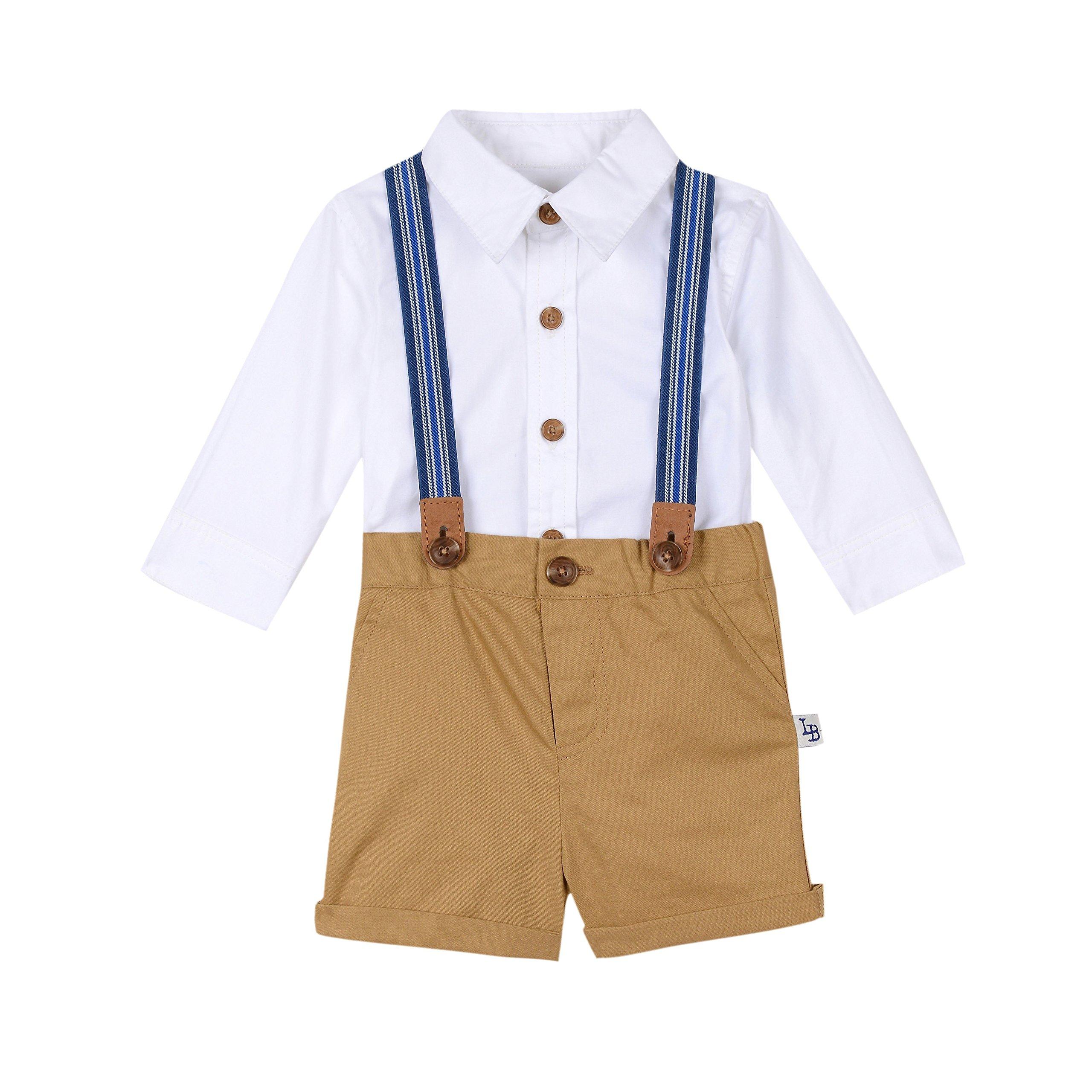 Little Brother Samuel Suspenders Set by PIPPA & JULIE (Image #1)