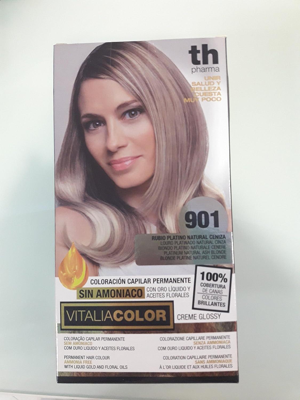 Vitaliacolor 901 rubio platino natural ceniza: Amazon.es: Belleza
