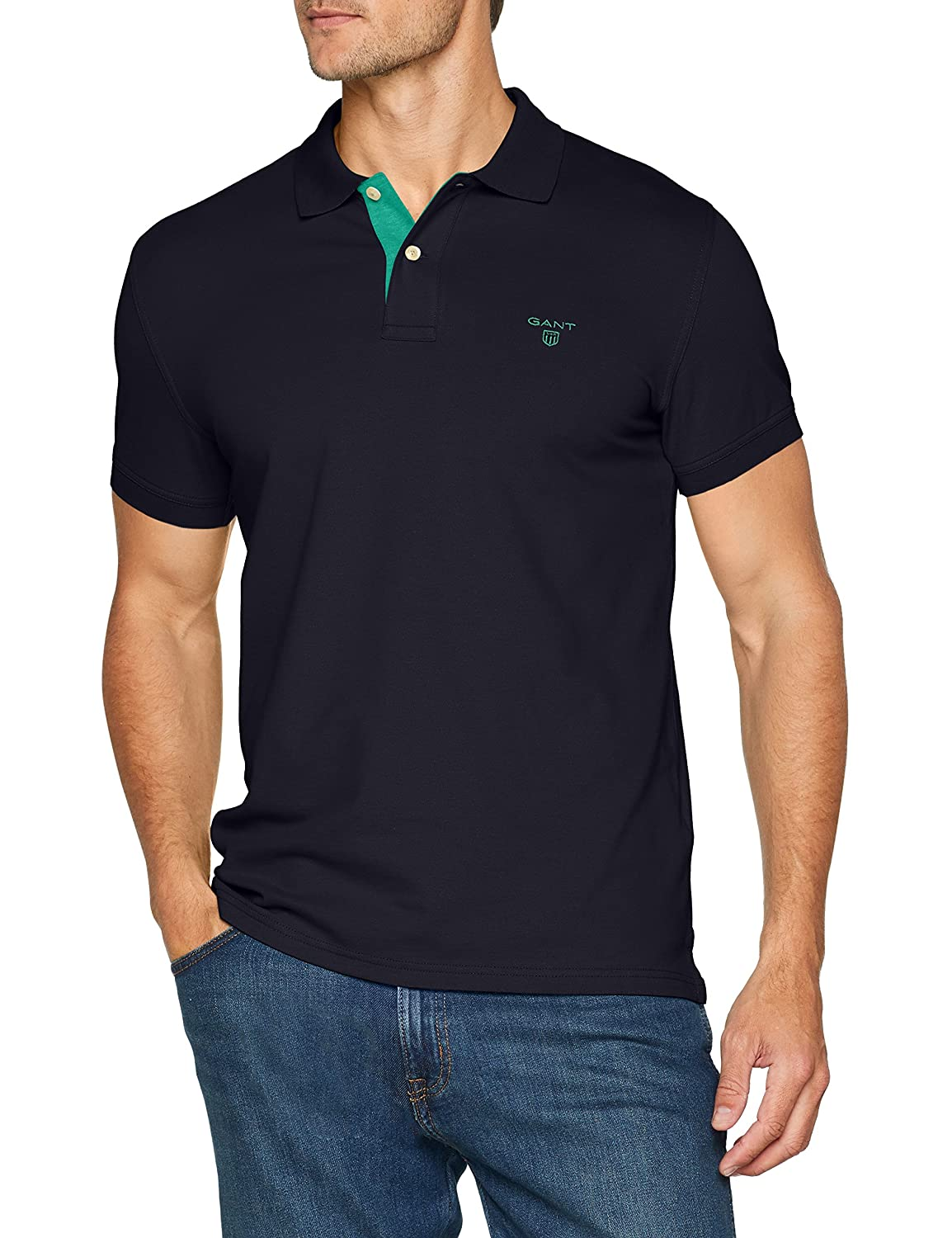 GANT Contrast Collar PIQ SS Rugger Polo para Hombre: Amazon.es ...