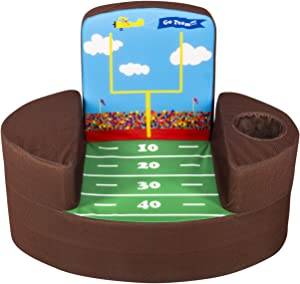 Marshmallow Furniture, Children's Transforming Flip-See-Do Football Foam Chair, by Spin Master
