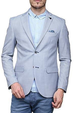 Yves Enzo Veste Blz01 Pdg Bleu  Amazon.fr  Vêtements et accessoires 16a8061a2120