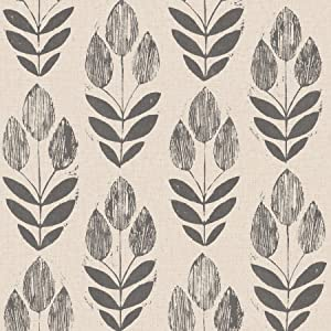 NuWallpaper NU2459 Folk Tulip Peel & Stick Wallpaper Neutral