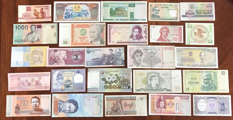 tutto Mondo 25 diversi Banconote (Banconote ) Prophila Collection