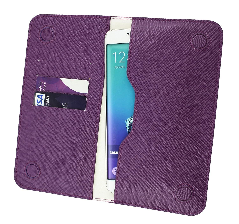 Emartbuy Púrpura Texturizado Cuero PU Magnética Delgada Funda Carcasa Case Tipo Bolsa (Talla 3XL) Apto para Blusens Smart Elegance 3 Smartphone: Amazon.es: Electrónica