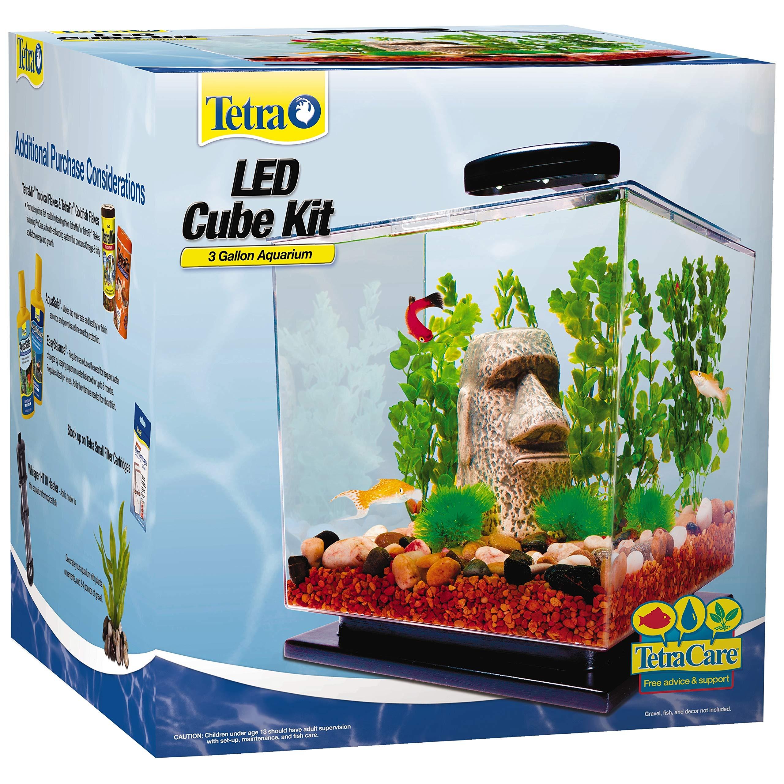 Tetra LED Cube Shaped 3 Gallon Aquarium with Pedestal Base by Tetra