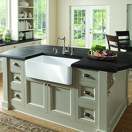 Butler 295 x 185 fireclay kitchen sink single bowl sinks butler 295quot x 185quot fireclay kitchen sink workwithnaturefo