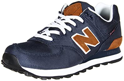 New Balance Men\u0027s ML574 Back Pack Running Shoe,Navy/Brown,6.5 ...