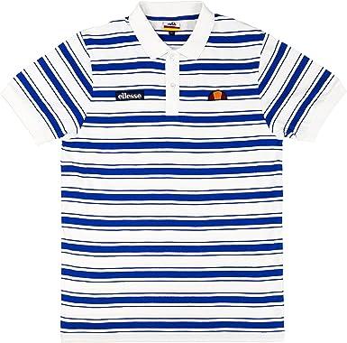 Ellesse Polo Zepol, Größe:3XL, Farbe:Optic White Stripe: Amazon.es ...