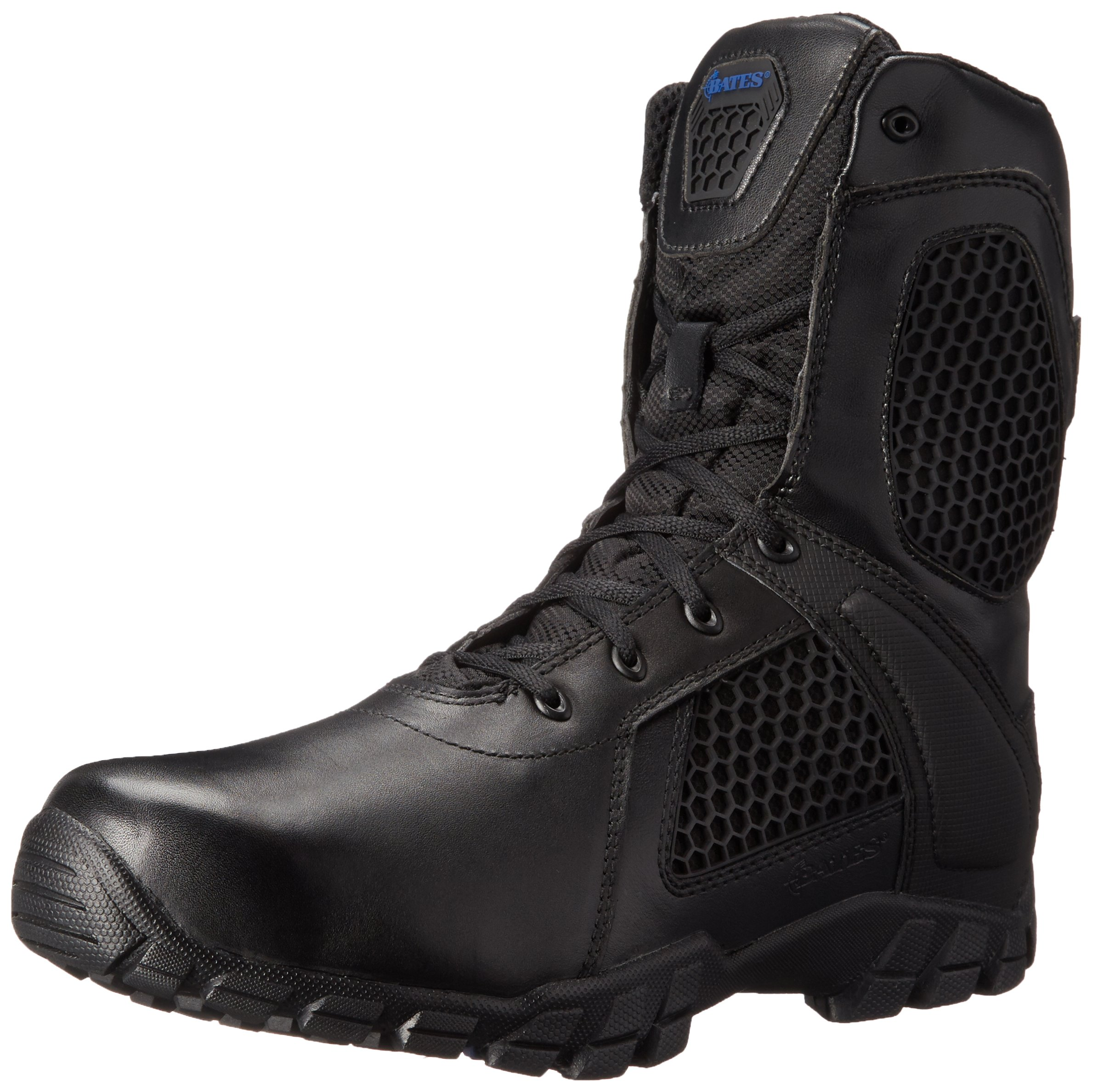 Bates Men's 8 Inch Strike Side Zip Waterproof Tactical Boot, Black, 10 M US
