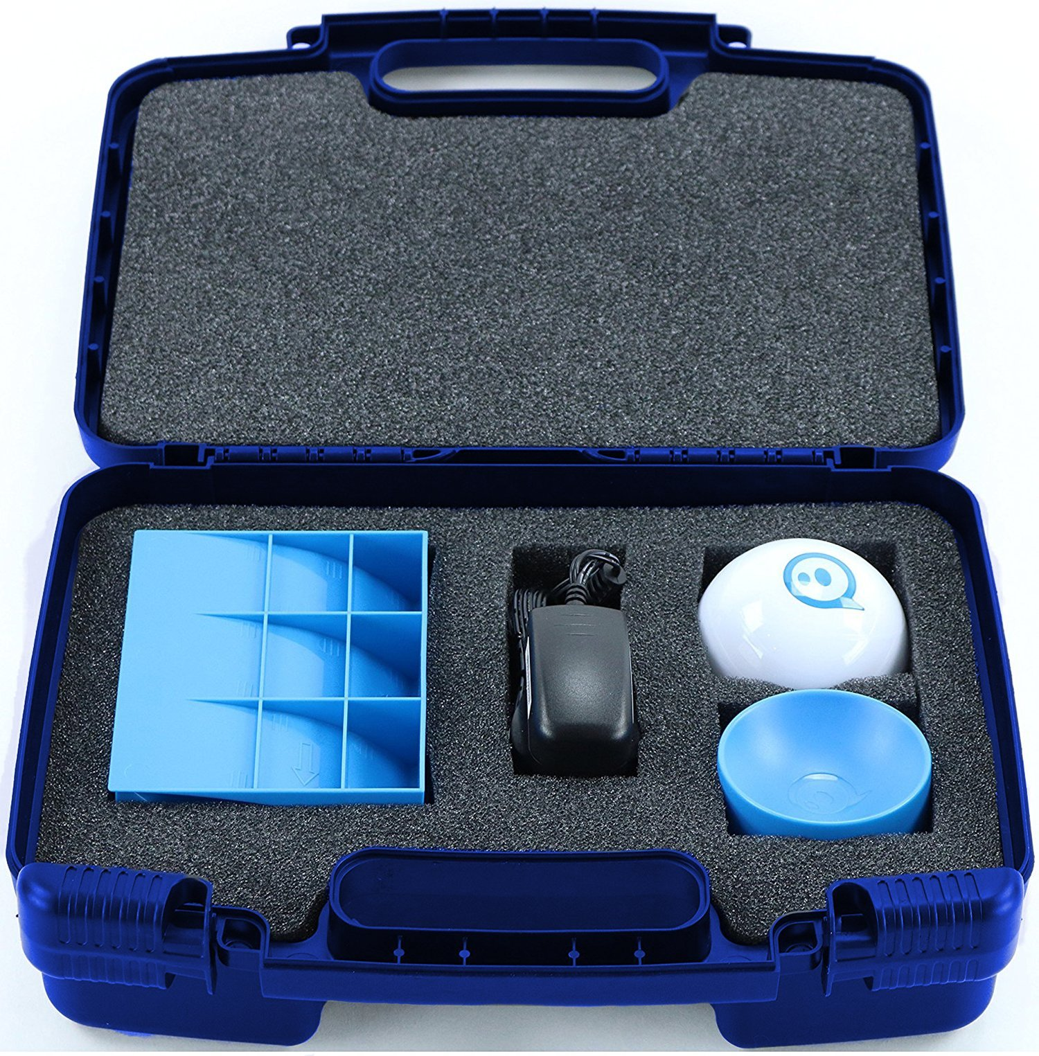 Life Made Better Storage Organizer - Compatible with Sphero 2.0 The App-Controlled Robot Ball and Accessories- Durable Carrying Case - Blue