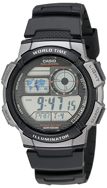 49d72857f3ab Casio AE1000W-1BVCF Reloj deportivo digital para hombre
