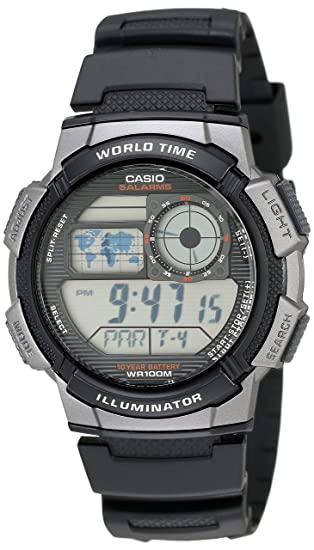 4fdf51079 Amazon.com: Casio Men's AE1000W-1BVCF Silver-Tone and Black Digital Sport  Watch with Black Resin Band: Casio: Watches