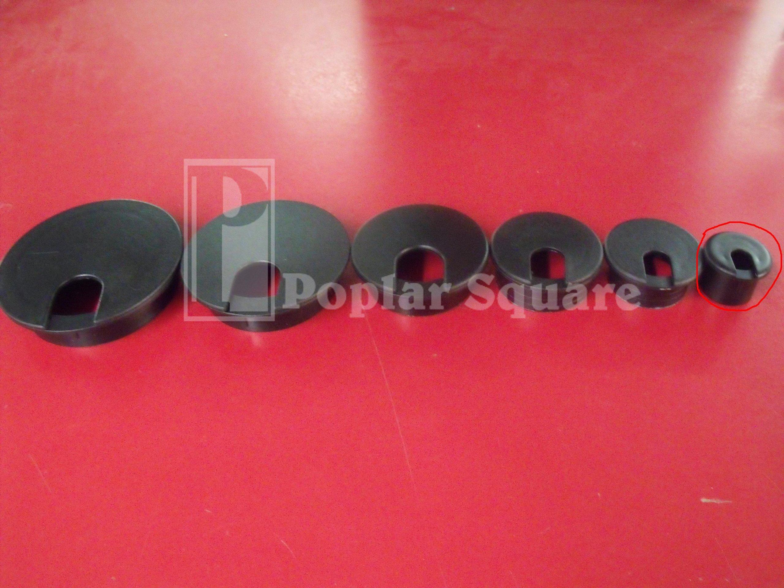Cord Grommet Black 1'' 25/box #1041BK by Bainbridge (Image #6)