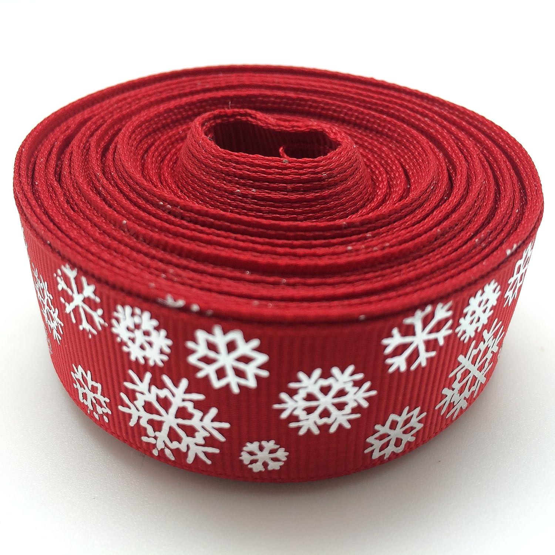 Snowflakes Christmas Grosgrain Ribbon