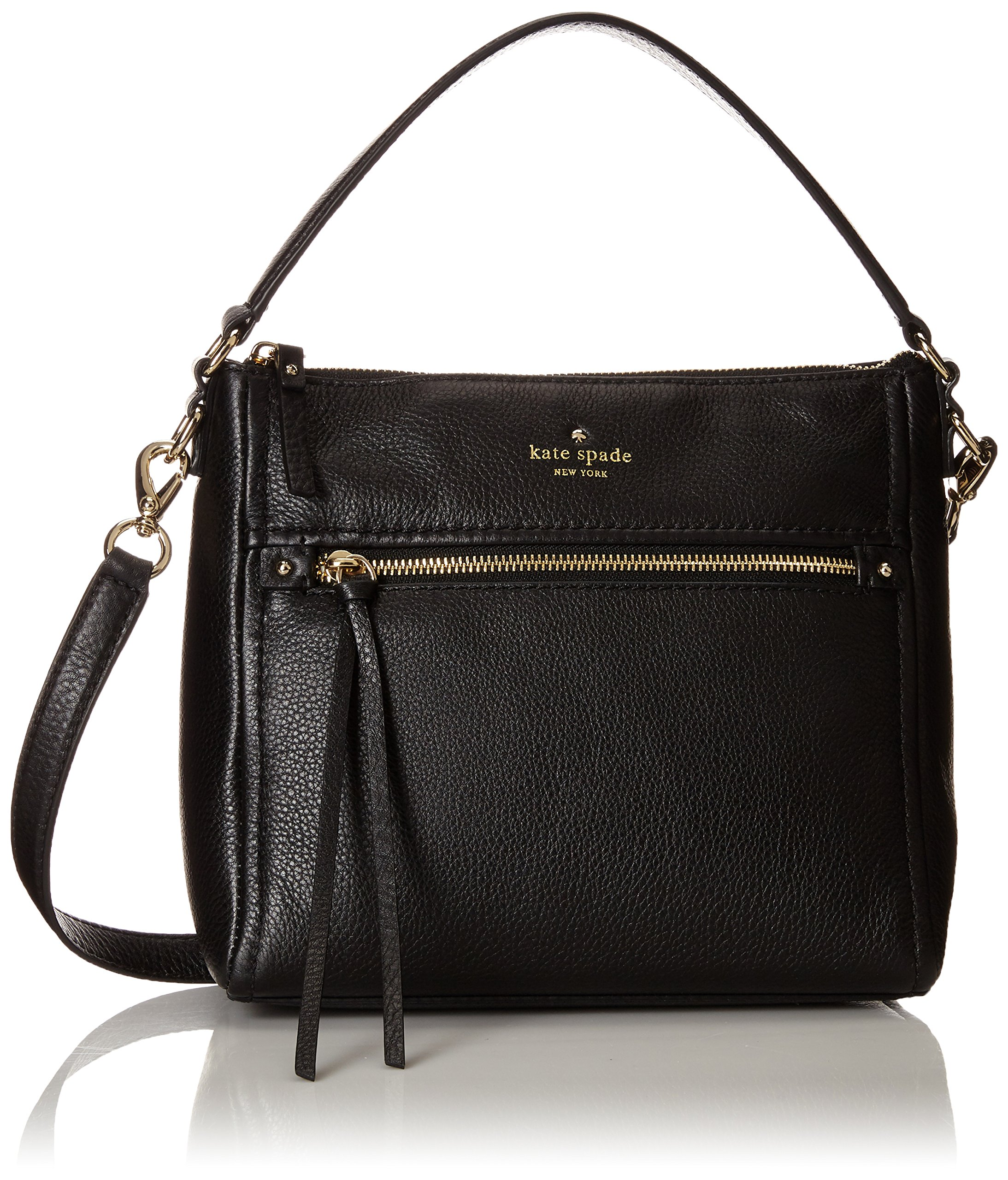 kate spade new york Cobble Hill Small Harris Shoulder Bag, Black, One Size by Kate Spade New York