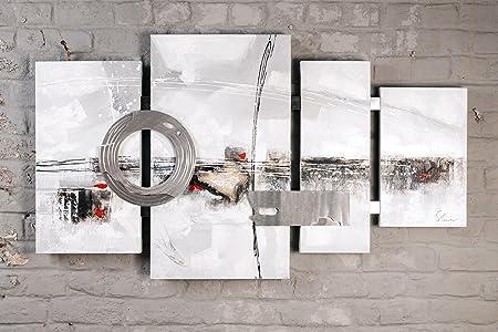 Peinture A L Huile Sur Toile Triptyque Quadriptyque 70x115cm Amazon Fr Cuisine Maison