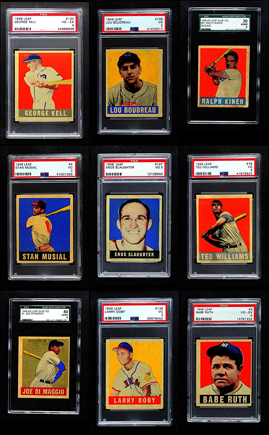 1948-49 Leaf Almost Complete Set (Baseball Set) Dean's Cards 3.5 - VG+ 917H646vVNLSL1500_