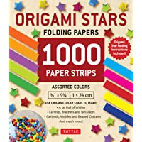 Origami Stars Papers 1,000 Paper Strips in Assorted Colors: 10 colors - 1000 sheets - Easy Instructions for Origami…