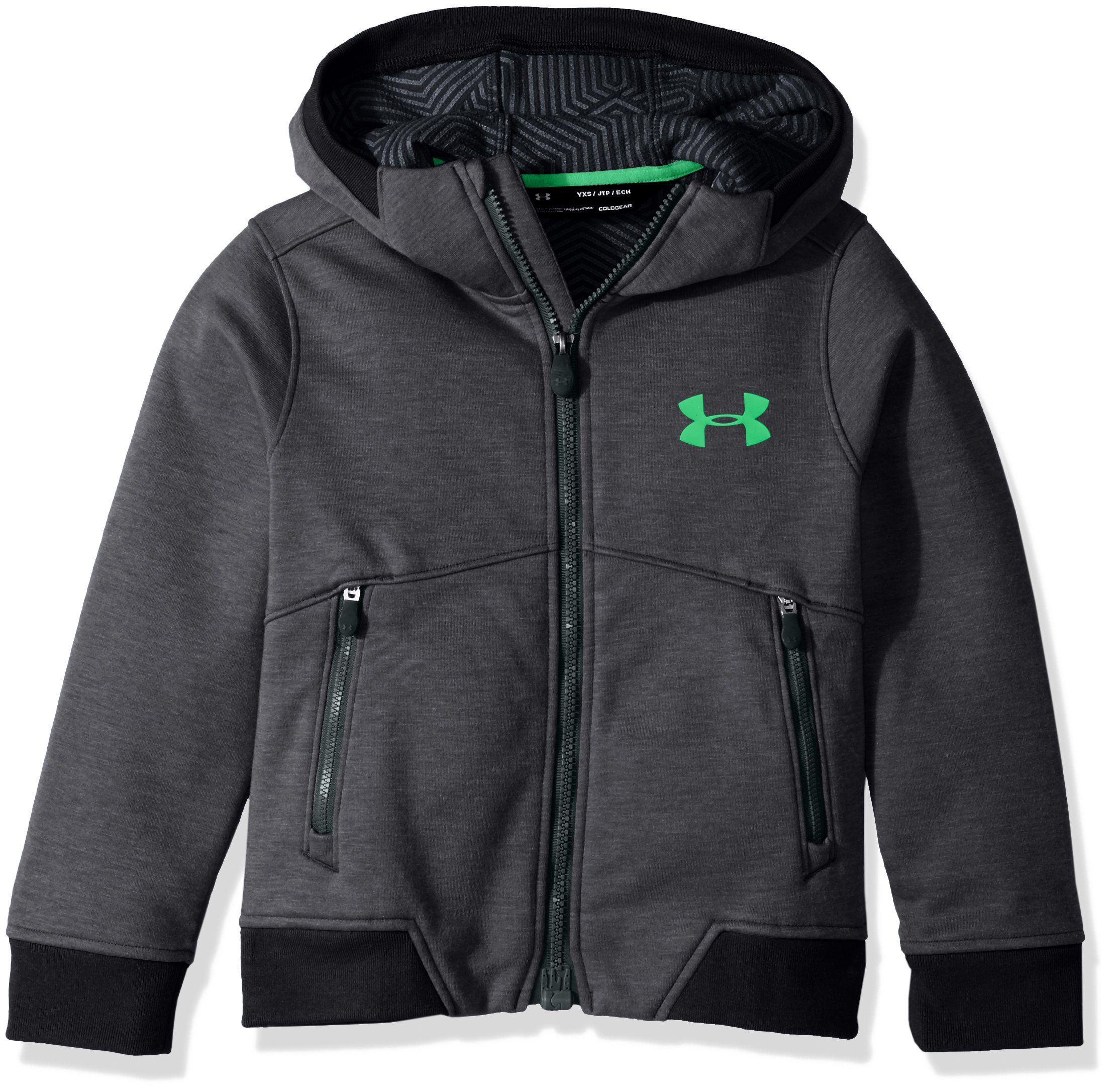 Under Armour Boys' Storm Dobson Softshell, Asphalt Heather/Anthracite, Youth Small