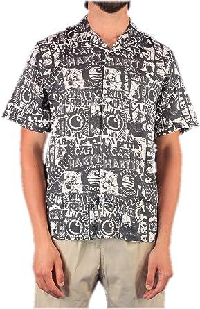 Carhartt Camisa Collage Sateen Negro para Hombre: Amazon.es: Ropa y accesorios