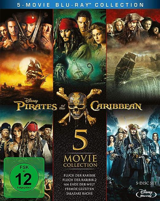 Pirates of the Caribbean 1-5 Box [Alemania] [Blu-ray]: Amazon.es ...