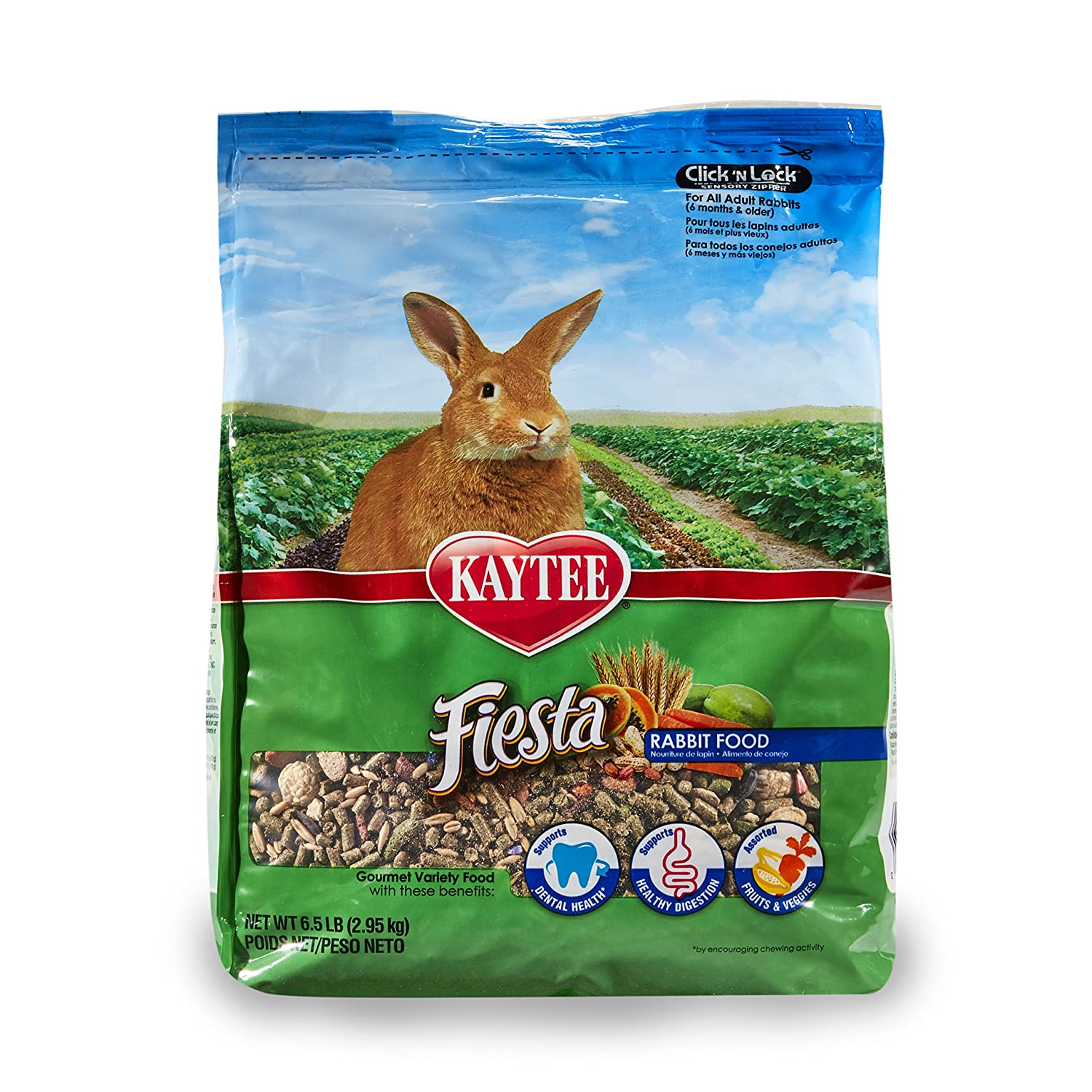 6.5-Pound Kaytee Fiesta Rabbit Food, 6.5-Lb Bag