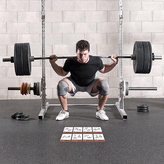 Amazon.com: Barbell tarjetas de ejercicio por newme Fitness ...