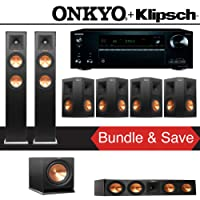 Klipsch RP-250F 7.1-Ch Reference Premiere Home Theater System with Onkyo TX-NR777 7.2-Ch Network AV Receiver