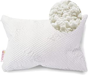 JUVEA 100% Natural, Adjustable Talalay Latex Down Alternative Pillow, Luxurious Tencel Lyocell Fiber Cover, Best Sleeping Pillow to Support Head and Neck, Standard/Queen ComforFill – Made in USA