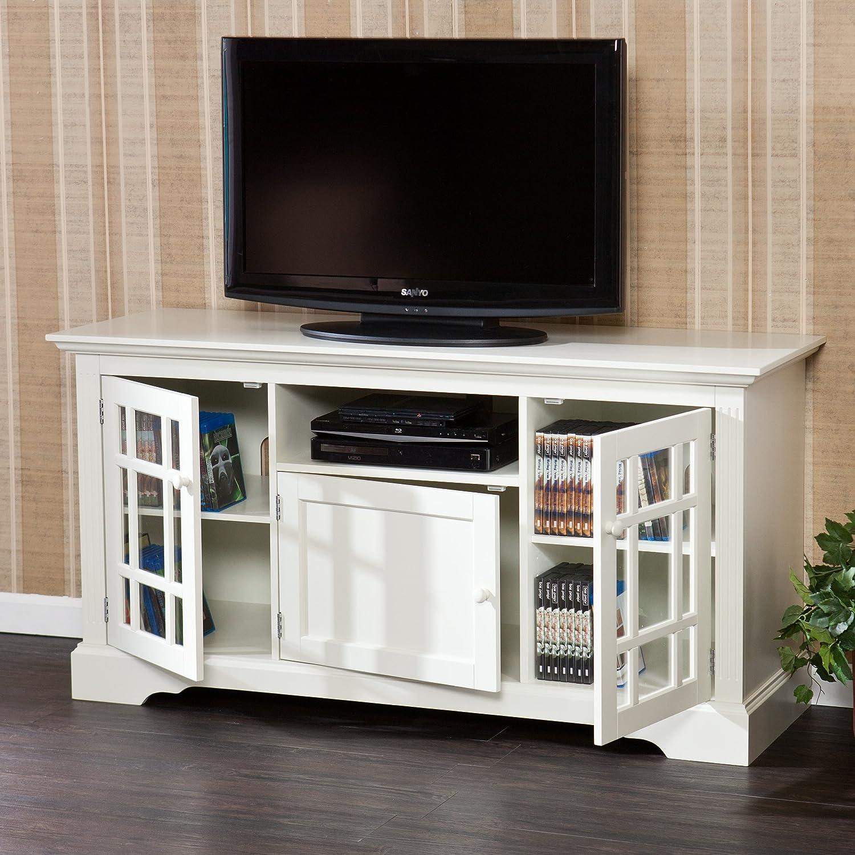 Design White Media Console amazon com sei chatsworth tv media stand off white kitchen dining