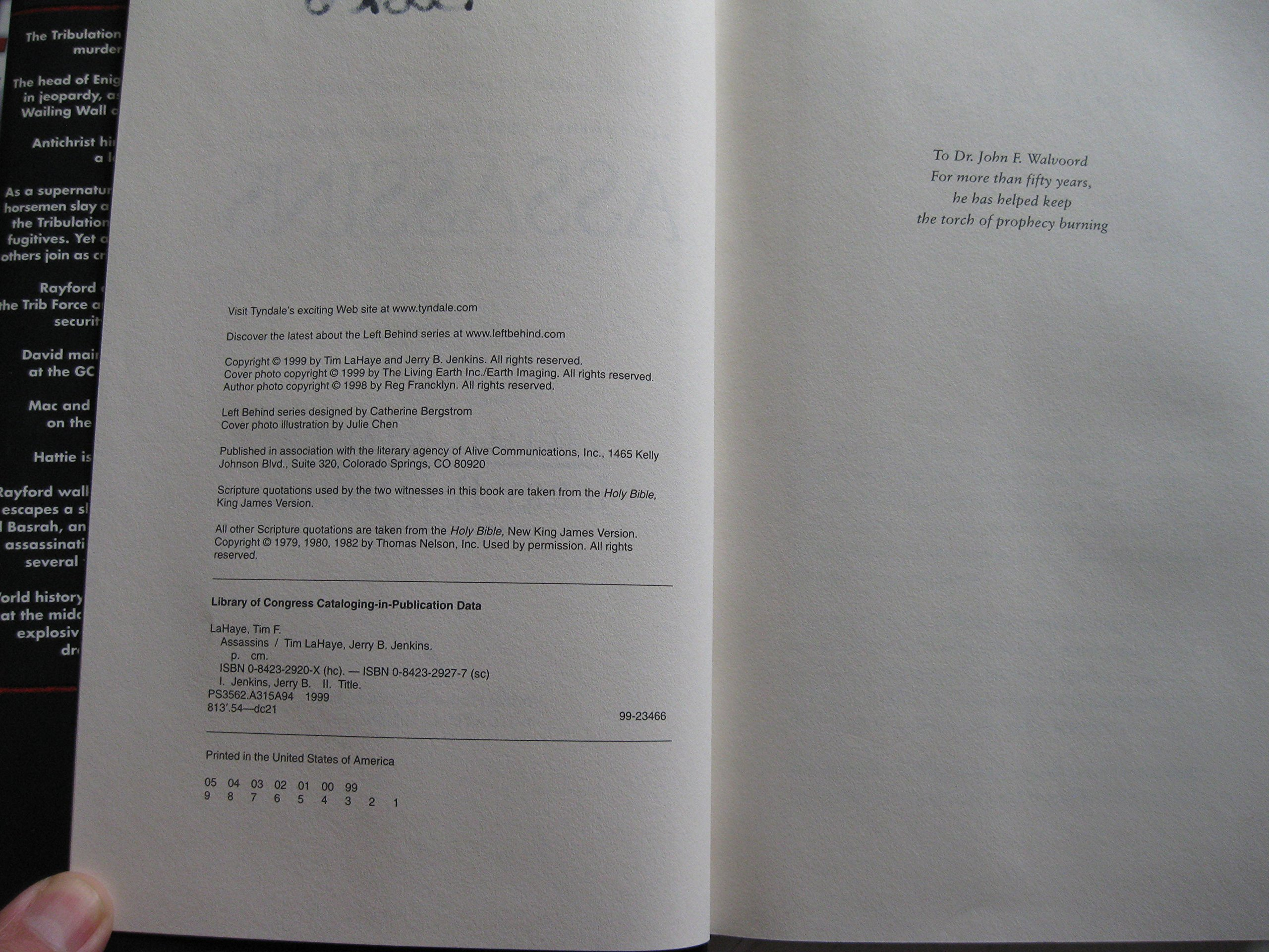 By Tim Lahaye, Jerry B Jenkins: Assassins (left Behind, Book 6):  9780842329200: Amazon: Books