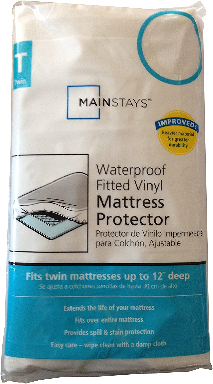 Waterproof Fitted Vinyl Twin Mattress Protector - 39 x 75 x 12