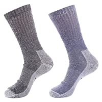Laulax Mens 2 Pairs of Finest Wool Winter Socks, Black, Navy, Size UK 7 - 11 / Europe 40 - 46