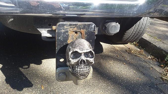 Capuchon Attelage de remorque Couvercle Crâne Trike Quad Skull Cap tete de mort rouge