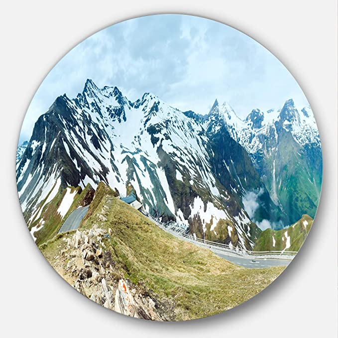 Amazon Com Designart Alps Summer Panorama Photography Circle Mt7081 C23 Disc Of 23 Inch 23 H X 23 W X 1 D 1p Green Posters Prints