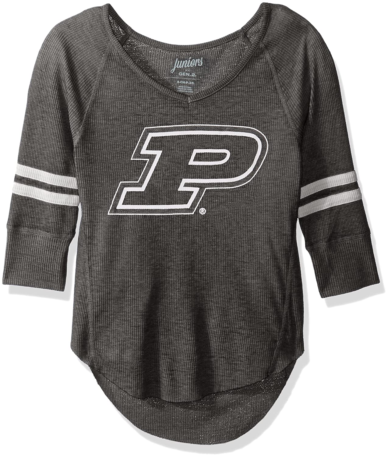 Team Color NCAA Purdue Boilermakers Juniors Outerstuff Relaxed 3//4 Raglan Thermal Top 3-5 Small