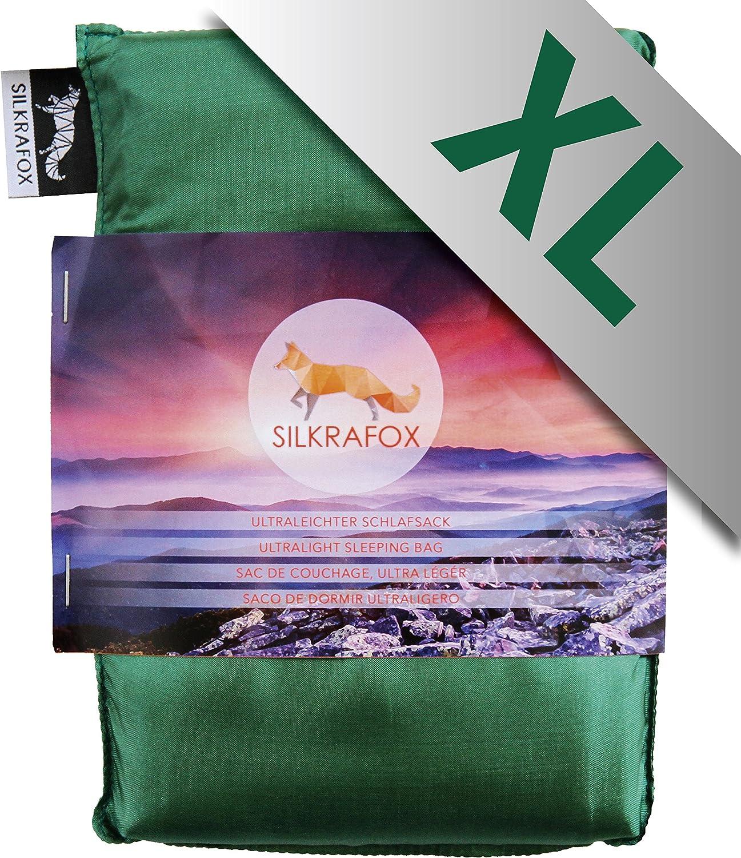 super-king-sized ultralight sleeping bag liner artificial silk inlett perfect for hiking outdoor activities backpacking Silkrafox XL