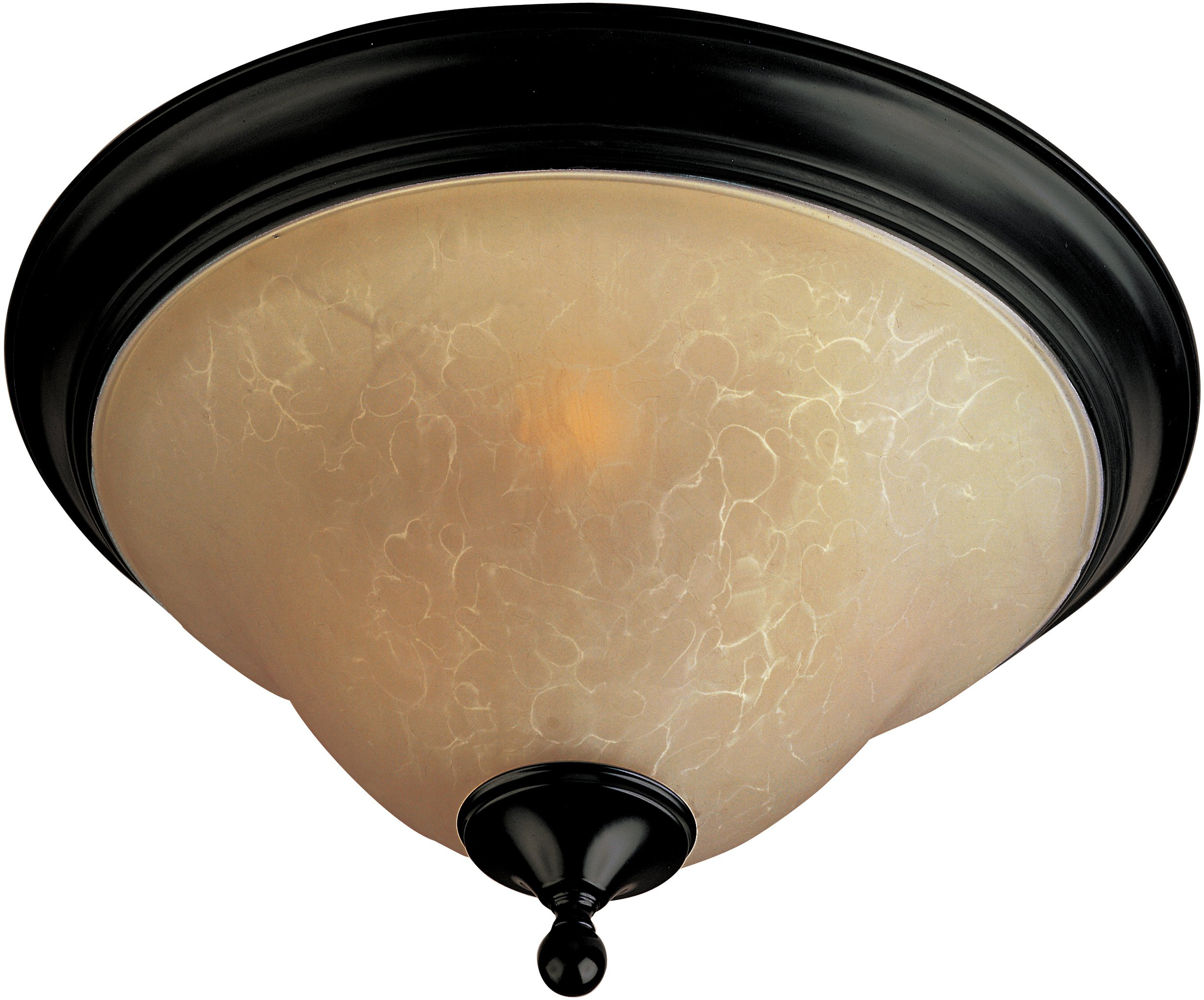 Maxim 85801WSOI Linda EE 3-Light Flush Mount, Oil Rubbed Bronze Finish, Wilshire Glass, GU24 Fluorescent Bulb , 100W Max., Wet Safety Rating, Standard Dimmable, Glass Shade Material, 1150 Rated Lumens