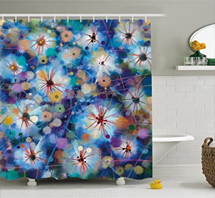 Ambesonne Watercolor Flower Home Decor Shower Curtain By Vivid Fairy Pattern With Firefly Bug Mother