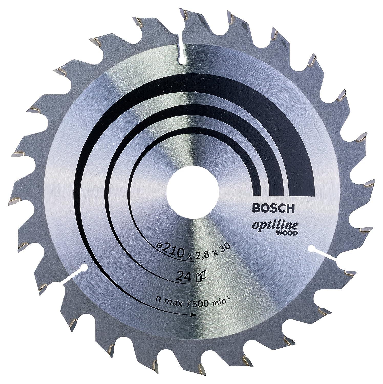 48 Bosch Professional Zubeh/ör 2608641175 Kreiss/ägeblatt Optiline Wood 165 x 30 x 2,6 mm