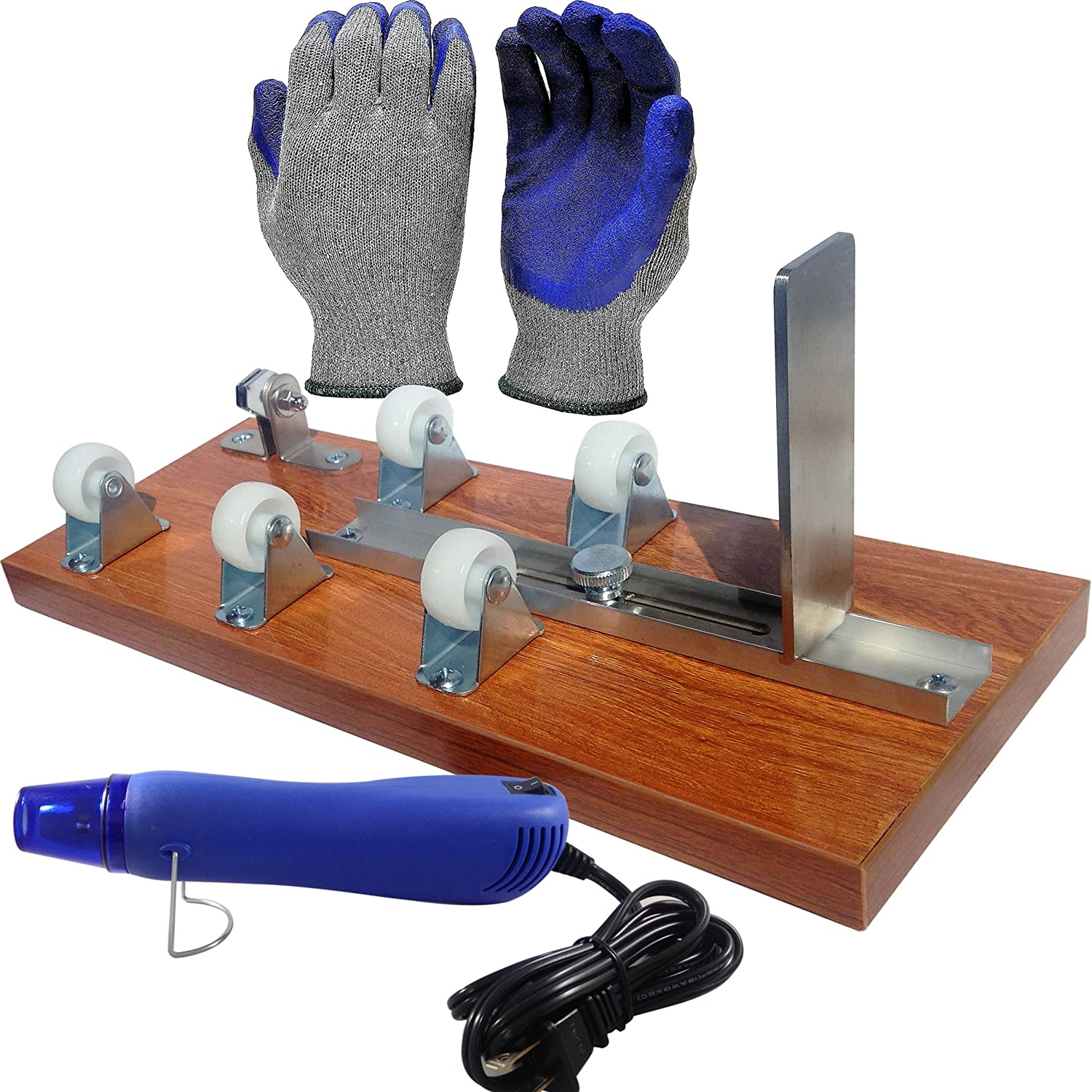 Glass Bottle Cutter, Upcycle EZ-Cut, Wine & Beer Bottle Cutting Machine Tool: Ultimate Kit + Heat Breaking Tool + Gloves + Sandpaper Upcycle EZ-Cut Bottle Cutter