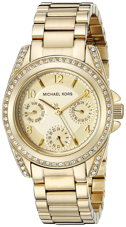 05cea5f8c409 Amazon.com: Michael Kors Women's Blair Gold-Tone Watch MK5639: Michael Kors:  Watches