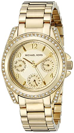 8344a7b9c Image Unavailable. Image not available for. Color: Michael Kors Women's  Blair Gold-Tone Watch MK5639