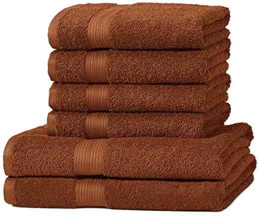 182 opinioni per AmazonBasics- Set di 2 asciugamani da bagno e 4 asciugamani per le mani che non