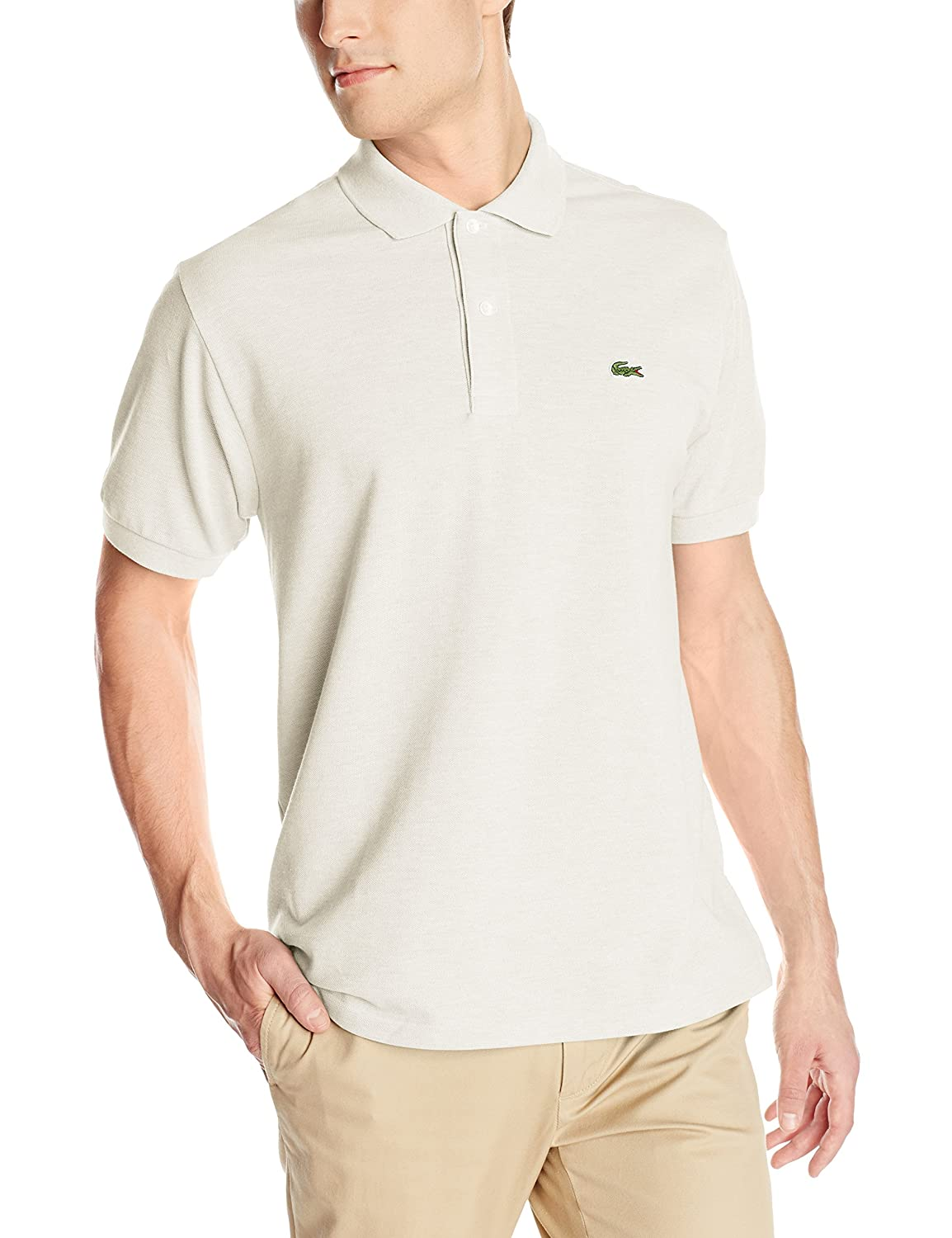 Fit Lacoste Pique Sleeve Men's Short PoloAlpes Classic Chine Grey UVzMqSp