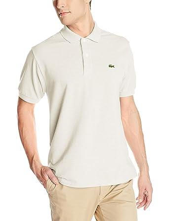 6d40e3a698c2 Lacoste Men s Classic Short Sleeve Chine Pique Polo Shirt at Amazon ...