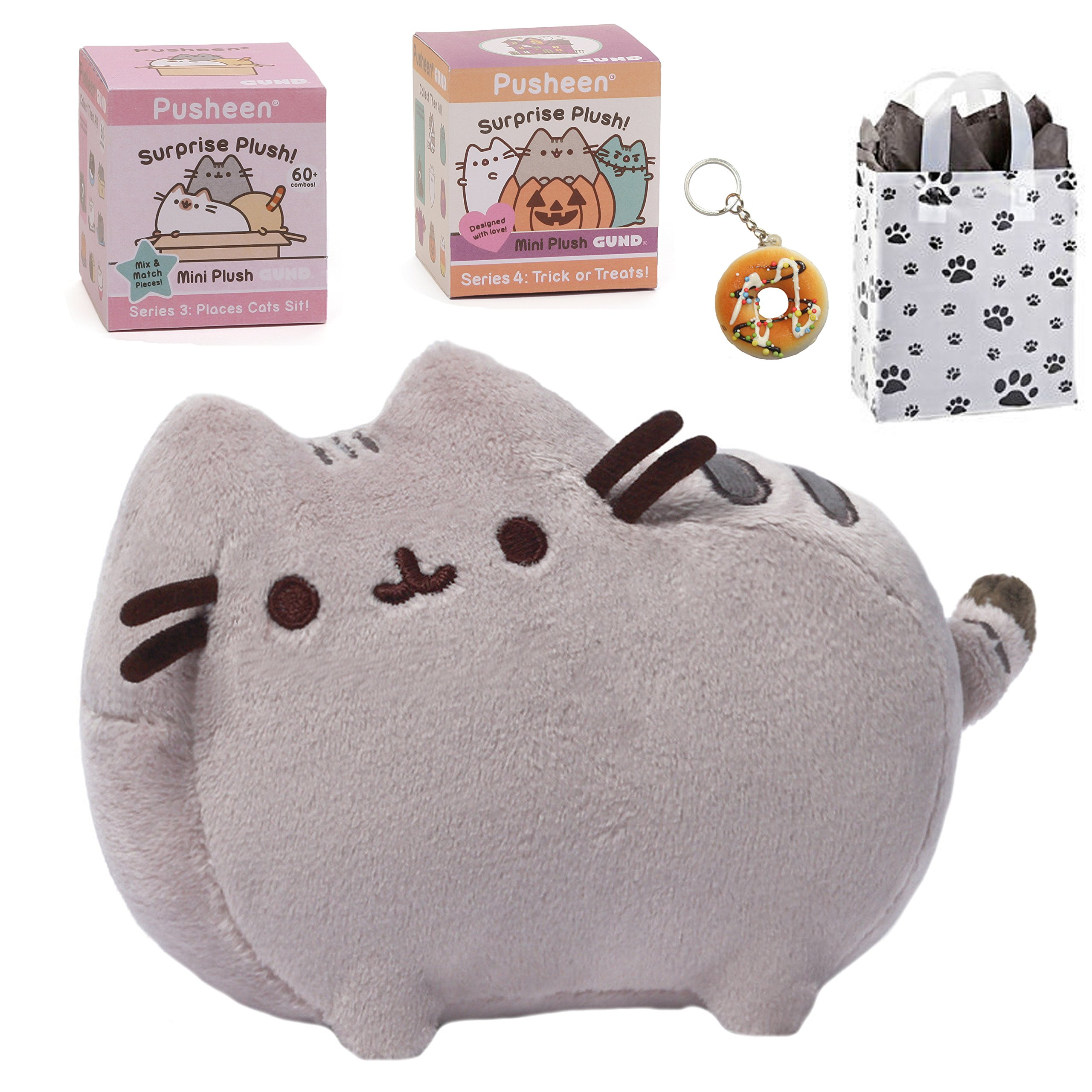 Pusheen GUND 6'' Plush, Mystery Box Series 3 & 4, Keychain & Bag Multi-pack