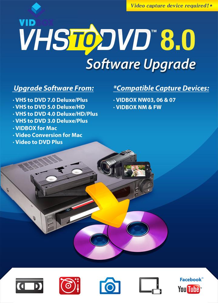 VHStoDVD 8.0 Software Upgrade [Download] (Dvd Vhs Deluxe)
