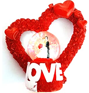 Buy valentines gift unique arts love couple in small crystal glass valentine gift love romantic dancing couple in small crystal glass ball showpiece best valentines day negle Images