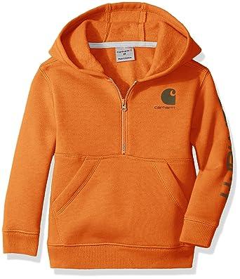 912e74fac689 Amazon.com  Carhartt Boys  Logo Fleece Half Zip Sweatshirt  Clothing
